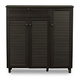 Baxton Studio Pocillo 45.25 W x 14.5 D Storage Cabinet, Dark Brown (5308-STPL)