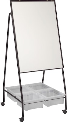 Best-Rite Mobile Storage Dry Erase Easel, Melamine Whiteboard Surface (762)