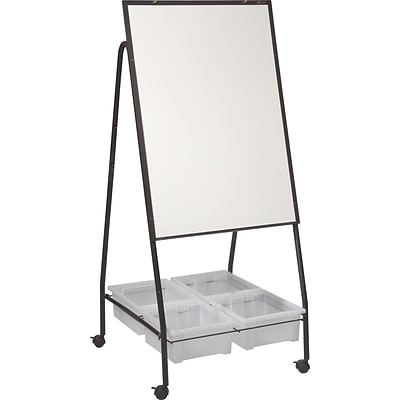 Best-Rite Mobile Storage Dry Erase Easel, Porcelain Steel Whiteboard Surface (763)