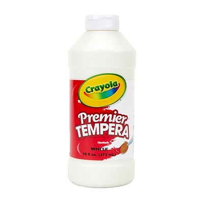 Crayola Premier Tempera Paint, White, 16 oz. (54-1216-053)