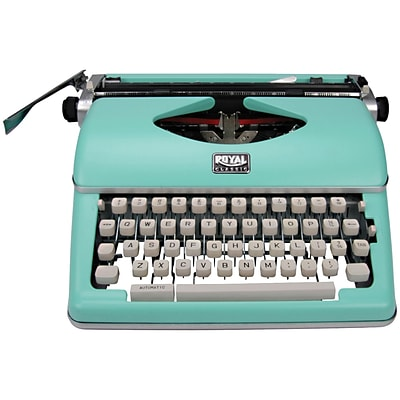 Royal Classic Manual Typewriter, Mint Green (79101T)