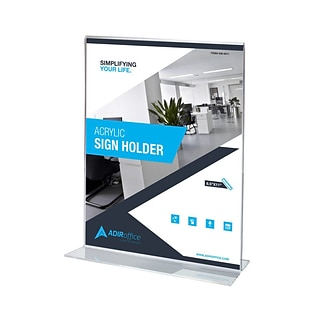 Adir Office 8.5W x 11H  T-Shaped Base Sign Holder, 24 Pack (639-8511-24-TS)
