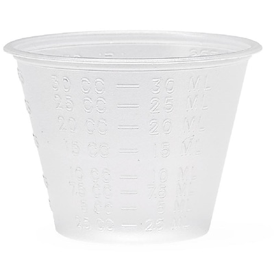 Medline 1 oz. Plastic Disposable Cup, Translucent, 5000/Carton (DYND80000)
