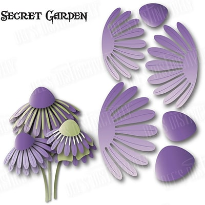 Ecstasy Crafts IME124 Dees Distinctively Dies-Secret Garden Flower 2 3.87X2.09
