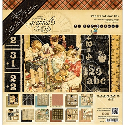 Graphic 45 G4501100 Graphic 45 Deluxe Collectors Edition Pack 12X12-ABC Primer
