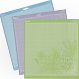 Provo Craft 2003546 Cricut Adhesive Back Cutting Mats 12X12 3/Pkg-Green, Blue & Purple