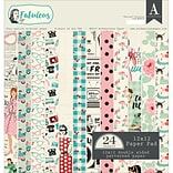 Authentique Paper FAB018 Authentique Double-Sided Cardstock Pad 12X12 24/Pkg-Fabulous, 12 Designs/