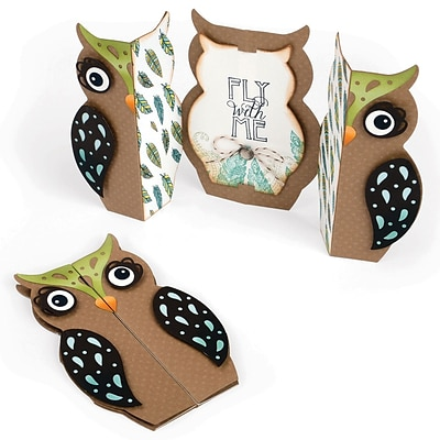 Sizzix 661138 Sizzix Thinlits Dies 6/Pkg-Owl Fold-A-Long Card