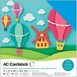 American Crafts AC376990 American Crafts Variety Cardstock Pack 12X12 60/Pkg-Brights