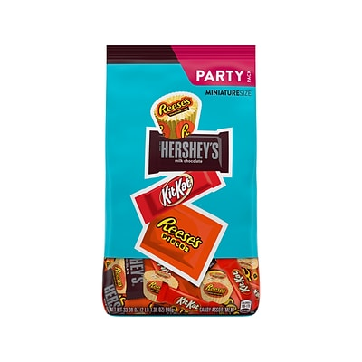 Hersheys Assorted Miniature Size Party Pack, 33.38 oz. (HEC20243)