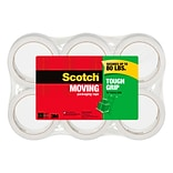 Scotch® Tough Grip Moving Packing Tape, 1.88 x 54.6 yds., Clear, 6 Rolls (3500-6)