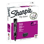 Sharpie FLIP CHART Water Based Markers, Bullet Point, Assorted, 8/Pack (22478)