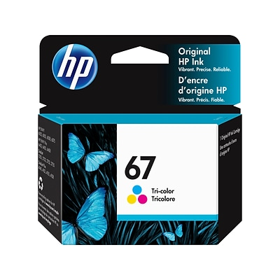 HP 67 Tri-Color Ink Cartridge, Standard Yield (3YM55AN#140)