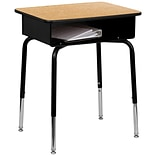 Flash Furniture 24 Read & Writing Station, Wood Grain/Black (FD-DESK-GG)