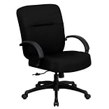 Flash Furniture HERCULES Series Fabric Office Big & Tall Chair, Black (WL723ATGBK)