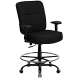Flash Furniture HERCULES Big & Tall Fabric Drafting Stool, Black (WL-735SYG-BK-AD-GG)
