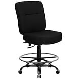 Flash Furniture HERCULES Fabric Drafting Chair, Black (WL-735SYG-BK-D-GG)
