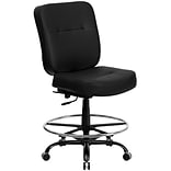 Belnick Hercules™ Series Drafting Stools with Extra Wide Seat, Black