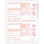 ComplyRight 2019 1098 Tax Forms, White/Red, 25/Pack (515025)