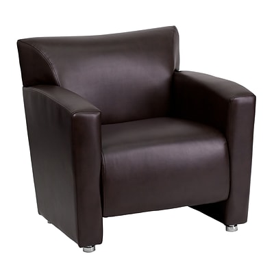 Flash Furniture Hercules Majesty Series Leathersoft Office Guest And Reception Chairs Brown 2221bn Quill Com