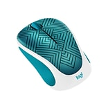 Logitech Design Collection 910-005838 Wireless Optical Mouse, Teal Maze
