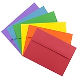 JAM Paper® A7 Colored Invitation Envelopes, 5.25 x 7.25, Assorted Colors, 150/Pack (956A7BRORGVY)