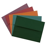 JAM Paper® A6 Invitation Envelopes, 4.75 x 6.5, Assorted Colors, 125/Pack (157A6DTGORBR)