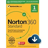 Norton 360 Standard for 1 Device, Windows/Mac/Android/iOS, Download (21390614)