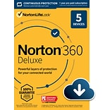 Norton 360 Deluxe for 5 Devices, Windows/Mac/Android/iOS, Download (21390623)