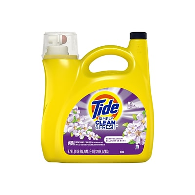 Tide Simply Clean & Fresh Berry Blossom Laundry Detergent Liquid, 128 Oz. (58710)