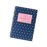 2020-2021 AT-A-GLANCE 5.5 x 8.5 Academic Planner, Emily Ley Simplified, Navy Dot (EL405-200A-21)