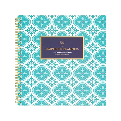 2020-2021 AT-A-GLANCE 8.5 x 11 Academic Planner, Emily Ley Simplified, Colorful Quatrefoil (EL400-905A-21)