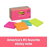 Post-it® Notes, 3 x 3, Cape Town Collection, 14 Pads (654-14AN)