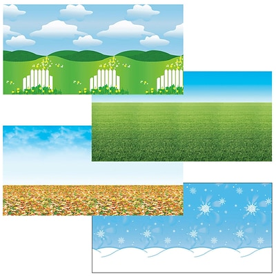 Fadeless Bulletin Board Art Paper, 48 x 12, Seasons Assortment, 4 Rolls (PAC0057534)