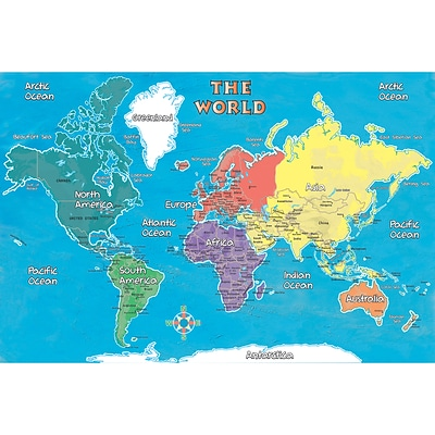 Replogle Young Explorer World Map, 24 x 16 (RE-72164)