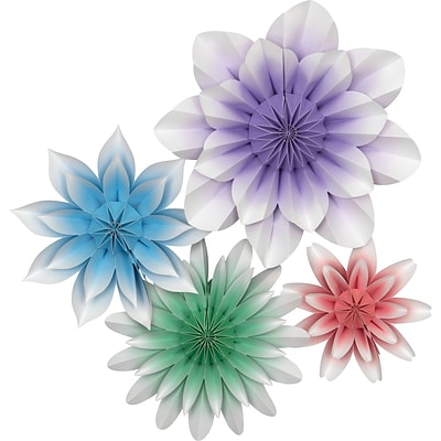 Teacher Created Resources Floral Bloom Paper Flowers, Pack of 4 (TCR8544)