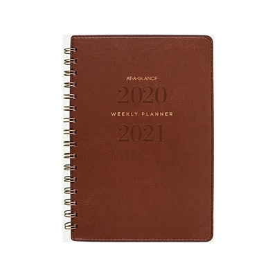 2020-2021 AT-A-GLANCE 5.5 x 8.5 Academic Planner, Signature, Brown (YP200A-09-21)