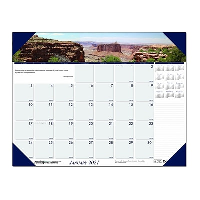 2021 House of Doolittle 17 x 22 Desk Pad Calendar, Earthscapes Mountains of the World, Multicolor (176-21)