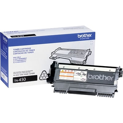 Brother TN-450 Black Toner Cartridge, High Yield
