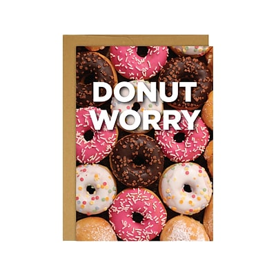 Great Papers! Donut Worry Uncoated Personal Notecard, Multicolor, 3/Pack (2020013)