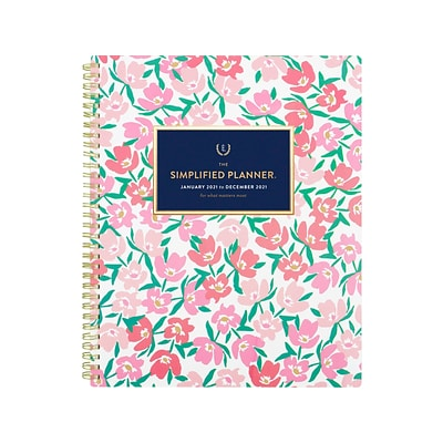 2021 AT-A-GLANCE 8.5 x 11 Planner, Simplified by Emily Ley, Floral (EL55-905-21)