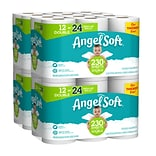 Angel Soft 2-Ply Standard Toilet Paper, White, 230 Sheets/Roll, 12 Rolls/Pack, 4 Packs/Carton (79019