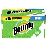 Bounty Select-A-Size Kitchen Rolls Paper Towel, 2-Ply, White, 83 Sheets/Roll, 12 Rolls/Carton (74795
