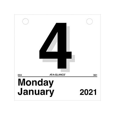 2021 AT-A-GLANCE 6 x 6 Wall Calendar Refill, Today Is, White/Black (K1-50-21)