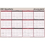 2021 AT-A-GLANCE 24.25 x 36.38 Wall Calendar, 2-Sided, White/Gray/Red/Black (A123-21)