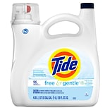 Tide Free & Gentle Liquid Laundry Detergent, 96 loads 138 fl oz. (23067)