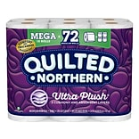 Quilted Northern Ultra Plush 3-Ply Standard Toilet Paper, White, 284 Sheets/Roll, 18 Rolls/Case (874