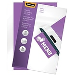Fellowes Thermal Pouches, Menu, 50/Pack (52013)