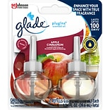 Glade Plugins Scented Oil, Apple Cinnamon, 2/Pack (638041)