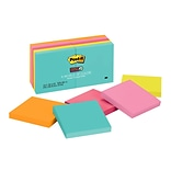 Post-it® Super Sticky Notes, 3 x 3, Miami Collection, 90 Sheets/Pad, 10 Pads/Pack (654-10SSMIA)